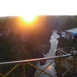 Sunset over the Falls.