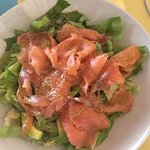 Salad with salmon and avocado