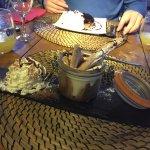 tiramisu et tarte myrtilles