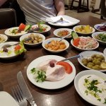 A range of cold starters served at Vrisaki as part of special Greek meze.
