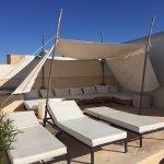Solarium sur les toits de la medina