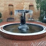 Fountain in the courtyard at 9 degrees