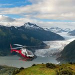Beautiful view of the Mendenhall Glacier with TEMSCO Helicopters