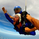 Freefall at 200km/hr for 75 seconds