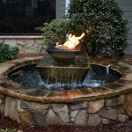 Fire Pit with Natural Gas Flame