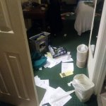 This is what my room looked like as I opened my door back up to my room, including STOLEN items