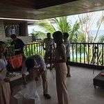 Wedding preparations on the balcony