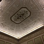 The frescoed ceiling of the Music Room