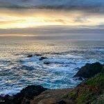 Russian Gulch Seashore at dusk