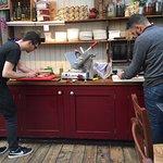 Lunch prep at Portobello Garden Cafe. ©www.shaunarmstrong.com