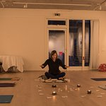 Picture from the Yoga room at Leirubakki
