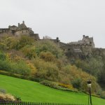 Grassy Slopes up Towards the Castle