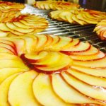 Our delicious, stone baked apple tortilla tart