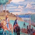La Battaille d' Héliopolis. papier Peint Panoramique situé dans la salle de l'Archéologie Egypti