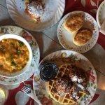 Mac & Cheese, Biscuit, Beignets Sliders, Chicken & Waffles