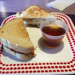 Colossal PB&J with a Blueberry Lavender Tea