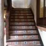 stairway with famous Spanish floor tiles