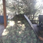 Tent accommodation and restaurant