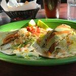 Grilled fist tacos, nice presentation