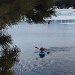 Lake kayaking through the ice