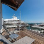 Rooms 203 & 206 - large decks over looking beautiful marina and Boston Harbor.