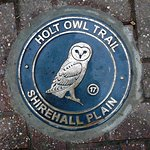 Holt Owl Trail Plaque No. 17 is on Shirehall Plain.