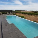 Pool area out to the countless vines