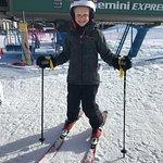 Rock Star Skier Number 2. (Age 8)