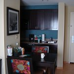 in suite dining table & kitchenette