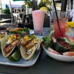 Best ever gluten-free fish tacos and an excellent Key West shrimp cocktail