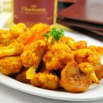Aloo Ghobi, delicious by itself or even better with Zafrani Ghost and Kamasutra Chardonnay