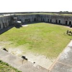 Fort Macon stands only a few miles east of Atlantic Beach.
