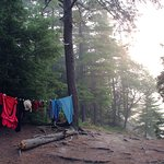 Our campsite on Carlyle Lake