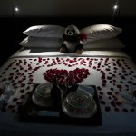 Romantic surprise by partner