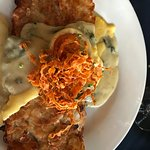 Almond Crusted Grouper in Spinach cream sauce