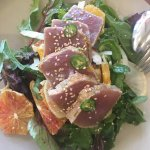 Ahi tuna salad with peppers and winter citrus