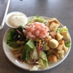 Dinner salad with shrimp - $3.95
