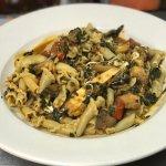 Chicken w/ Portobello Mushrooms, Fresh Mozzarella and Spinach In a Pomodoro Sauce