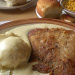 Country Fried Steak, mash potatoes and country gravy