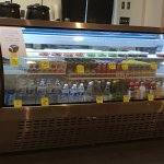 Cold drinks and salads