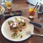 Chicken Sopes and burrito plate