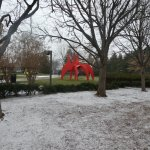 The Sculpture Garden outside the Pavilion Cafe