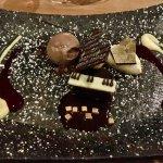 Famous chocolate piano dessert