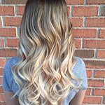 Hair extensions and balayage.