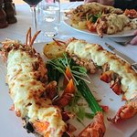 The lobster was devine (and very filling)