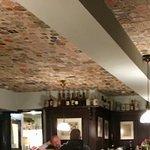 Beer Coasters on ceiling
