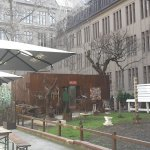 Interior courtyard of Plus Hostel - where you find Kappaland Exhibition