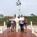 With my family at Long Tan Cross