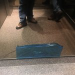 broken mirror in elevator and there where other damanged items throughout the hotel
