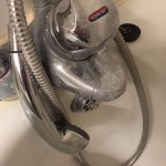 Scaled and dirty shower mixing valve